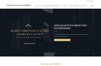 Site web d'Avocats Cazals