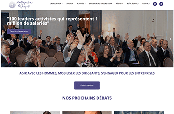 Site web d'Entreprise et Progrès