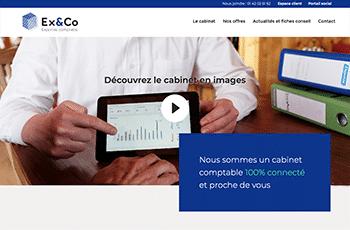 Site web du cabinet Ex&Co